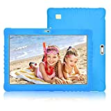 4G Tablette Enfants 10 Pouces IPS/HD,2 RAM 32 ROM,8500mAh Batterie Double Caméra Double SIM,Tablette Tactile Android 7.1 Quad-Core,Tablette PC Logiciel D'éducation Google Play Bluetooth WiFi(Bleu)