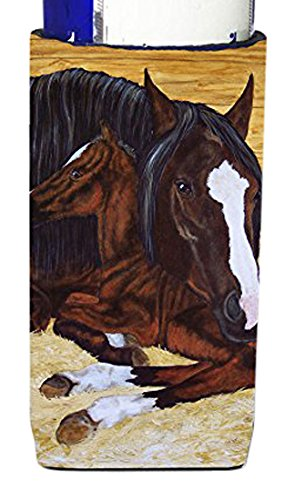 carolines-treasures-bay-mare-foal-horse-michelob-ultra-koozies-for-slim-cans-multicolor