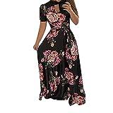 NPRADLA LeisureWomen Floral Dress Ladies Summer Evening Holiday Party Long Tunic Sundress Discount Spring 2019
