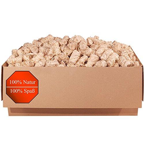 5,0 kg Kamin- und Grill-Anzünder (Ofenanzünder, Anzündwolle, Anzündhilfe) aus Premium Holzwolle und Wachs - schnell und stark