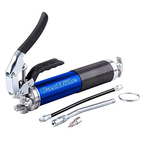 CarBole Heavy-duty Handhebelfettpresse 4500 PSI Schmiermittel 14 oz eloxiertes Aluminium Kanister mit 30,5 cm Flexschlauch
