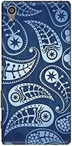 The Racoon Grip printed designer hard back mobile phone case cover for Sony Xperia Z5 Plus. (Paisley Bl)