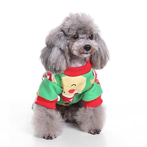 Pet Kostüm dexinghaoye Cute Santa Claus Rentier Haustier Kleidung Christmas T-Shirt Dog Schlafanzüge Apparel–sdz26Santa (Lion Halloween Cute Kostüme)