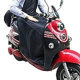 KINDAX Coprigambe Scooter Universale Impermeabile alla Pioggia, Antifreddo e Tiene Caldo, Coperta per Proteggere Gambe dal Freddo per Scooter, Taglia Unica [VERSIONE AGGIORNATA]