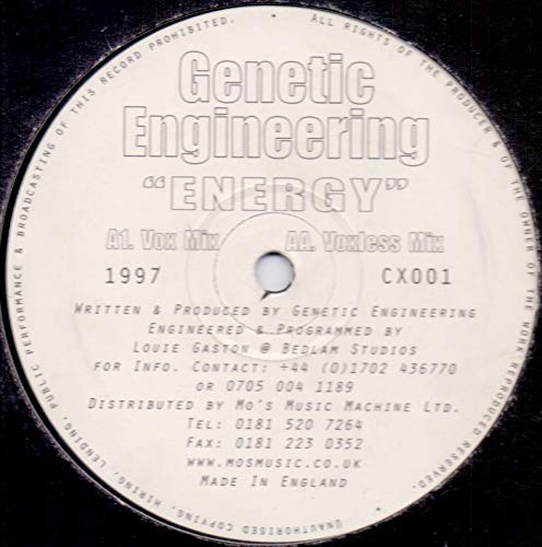 Genetic Engineering - Energy - Clone-X Records