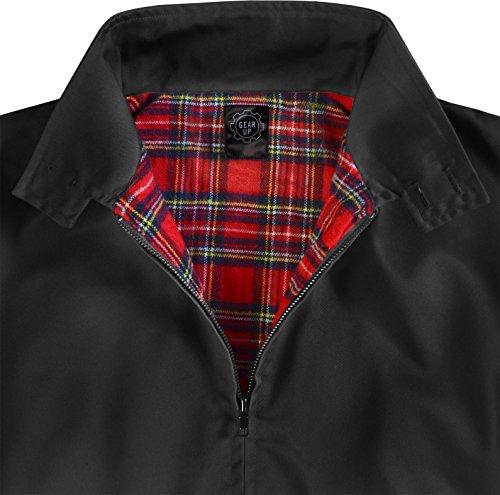 Original GearUp® Harrington Jacke English Style in 12 verschiedenen Designs wählbar Schwarz