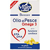 Matt&Diet - Olio di Pesce - Integratore di Omega 3 per la Funzione Cardiaca - 29 gr