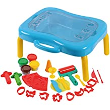 Playgo - Mesa/maletín plegable & 4 botes plastilina trigo & moldes (ColorBaby 44574)
