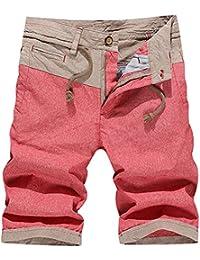 Herren Jungen Shorts Bermuda Casual Kurzhose in Fünffarben