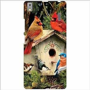 Lenovo K3 Note - PA1F0001IN Back Cover - Silicon Birds House Designer Cases