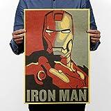 """NPH-065 Retro vintage poster Kraft papel 51x35 cm""""Famosa película IRON MAN Cartoon"""" pintura arte de la pared artesanía decoración del hogar"""