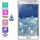 Voguecase® Samsung Galaxy Note Edge N9150,Protector de pantalla de cristal,Protector de pantalla de vidrio templado,Defensa membrana de vidrio templado,Film Protector de pantalla,resistente al rayado y ULTRA RESISTENTE - ÍNDICE DE 9H Dureza(Hecho de vidrio, NO se puede doblar. SÓLO CUBRIR LAS PARTES pantalla plana.)