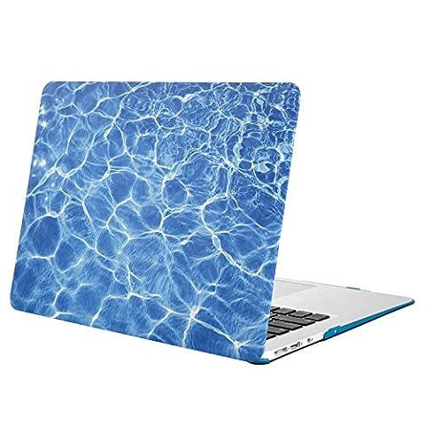MOSISO MacBook Air 13 Hülle - Ultra Slim Plastik Hartschale Schutzhülle Snap Case für MacBook Air 13 Zoll (A1466 / A1369), Blau Wasser Ripples
