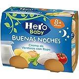 Hero Baby Buenas Noches Crema de Verduras con Rape - Paquete de 2 x 190 g - Total: 380 g