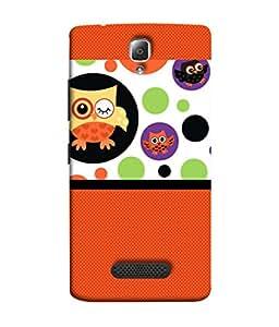 PrintVisa Designer Back Case Cover for Lenovo A2010 (Orange Green Black Purple Colours Modern Art Illustration Decoration )