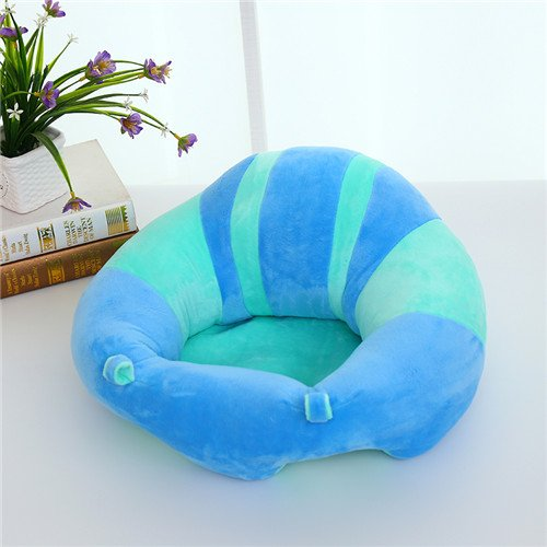 Uni Best Baby Sitting Chair Nursery Pillow Protectors, Colorful Pattern Lovely kids Baby Support Seat Soft Pillow Cushion Sofa Plush Toys - Children's Furniture Round Chair Seat (blue, green)
