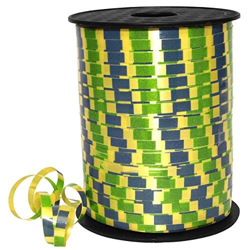 Morex Ribbon Morex Band 32805Blindnietmutter/500–614Harlekin Ringelband aus Polypropylen, 3/40,6cm 500YD, blau