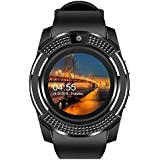 Faawn Smart Watches for Sports & Fitness Tracker with 4g Sim Card Supported Smart Watch for Men and Boys - Black