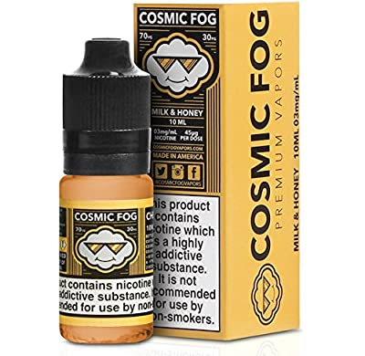 Cosmic Fog 'Milk & Honey V2' Marshmallow, Milk, Honey Premium e-Liquid Vape ECig 0mg Nicotine by COSMIC FOG