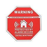 Cewaal Alarma de seguridad de seguridad para el hogar Etiqueta engomada de la etiqueta engomada de la Calcomanías de advertencia de disuasión