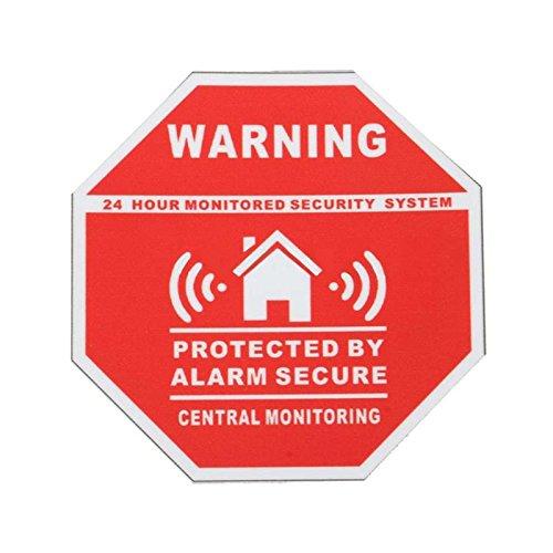 Cewaal Home Security Alarm Fenster Tür Zeichen Kleber Aufkleber Verbrechen Abschreckung Warnung Decals