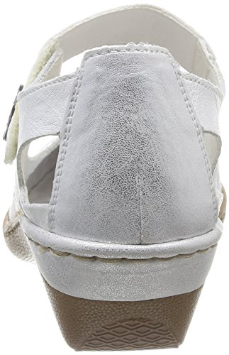 Rieker  48388/80,  Scarpe stringate donna Bianco (Blanc (Blanc Combiné))