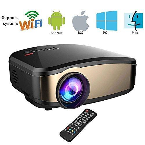 Proiettore Wi-Fi, Weton Full HD 1080P Proiettore LED a LED Portatile Mini Home Proiettore Proiettore Supporto HDMI VGA USB AV, compatibile con IOS Smartphone Android PC TV Portatile
