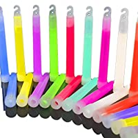 The Glowhouse Premium 6 inch Glow Stick pack of 25 (Mixed)