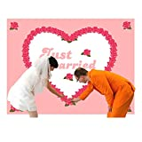 HOCHZEITSHERZ Bettlaken HERZ zum Ausschneiden ROSEN Hochzeitsspiele Hochzeit Geschenk