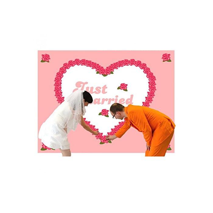 Krause & Sohn HOCHZEITSHERZ Bettlaken Herz zum Ausschneiden Rosen Hochzeitsspiele Hochzeit Geschenk