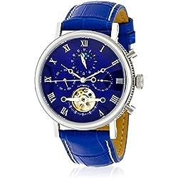 Louis COTTIER-Zeigt Tradition Automatische Zifferblatt blau-Gehäuse Stahl 42mm-Armband Leder Blau-Herren