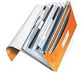 Leitz 45890044 Fächermappe WOW, A4, 6 Fächer, PP, orange metallic