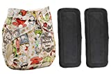 Babymoon (Set of 3-1 Cloth Diaper with 2 5Layesr Bamboo Insert) Premium Adjustable