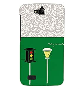 PrintDhaba Signal D-3303 Back Case Cover for HUAWEI HONOR HOLLY (Multi-Coloured)