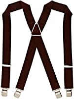 Heavy Duty Classic X-Shape Braces / Suspenders with Extra Strong Clips, 4cm