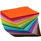 TRIXES lot de 40 feuilles de feutre multicolores pour des travaux d'art et d'artisanat - feutrine couleur pour loisirs créatifs - tissu en feutre - bricolage