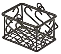 American Metalcraft (SBS533) Leaf Design Wrought Iron Sugar Packet Basket