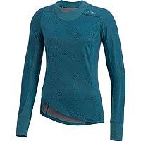 GORE RUNNING WEAR Camiseta de correr, Mujer, Manga larga, Resistente al viento, GORE WINDSTOPPER, SUNLIGHT LADY GWS PRINT Shirt long, Talla: 44, Azul cyan, SWSUNL290007