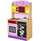 TecTake Cocina de madera de juguete para niños juguete juego de rol toy - varios modelos - (púrpura | no. 401236)