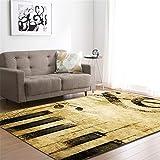 CHAOSE Leichte Weiche Polyester-Baumwolle Bedruckte Fläche Teppich Bodenmatte Farbwelt Muster Für Wohnzimmer und Schlafzimmer (Alte Musik, 80 x 50 in(203.2 x 147.3 cm))