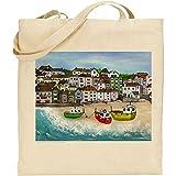 Jan Legard Landschaften | ST IVES Harbour | Cornwall | wiederverwendbar | Umweltfreundlich | Baumwolle Tasche | ideal Geschenk | Fun