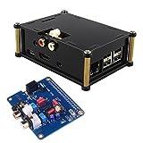 Kuman SC08C I2S Interface PiFi DIGI DAC + HIFI Digital Audio Sound Card + Acrylic Case für Raspberry Pi B+/2B,Shield + V2.0 Board