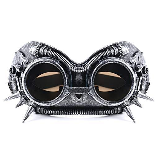 e Brille Cosplay Requisiten Halloween Cosplay Kostüm Maskerade Maske Retro Vintage Viktorianischen Brillen Maske Cyber Punk Gothic Maske für Party Festival Ball Prom Kostüm Zubehör ()