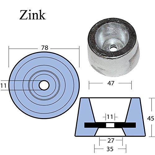 Zinkanode zylindrisch -