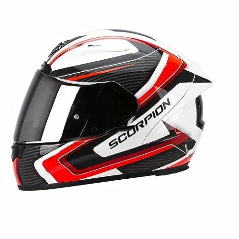Scorpion Casque de Moto EXO-2000 EVO AIR Carb, Noir/Rouge, Taille L