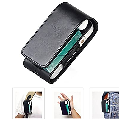 Electronic Cigarette Leather Pouch Bag Case Box Holder Storage for iQOS by GEZICHTA