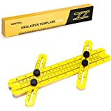 ELOKI Angle Règle Ruler Mesure- Easy Multi Angle Template Tool Finder Ultimate Règle General Mesure des diapositives et des serrures, Multi Angle Template Outil de mesure Angle Outil pour Carpenter, Constructeurs, Artisans et Diy-ers.