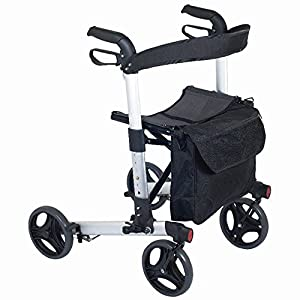 NRS Healthcare M66739 Compact Easy Rollator Wheeled Walking Aid - FOLDABLE (Eligible for VAT relief in the UK)