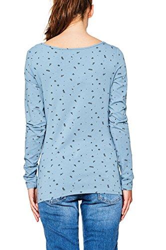 edc by ESPRIT Damen Langarmshirt Blau (Turquoise 470)