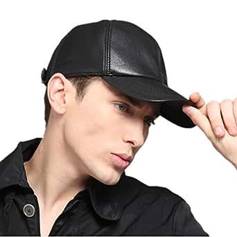 kenmont oreillettes visor casquette de baseball hiver hommes 100 r el de cuir de peau de ch vre. Black Bedroom Furniture Sets. Home Design Ideas